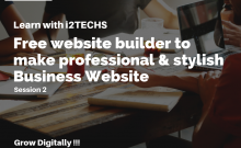 Image_Free website builder to make professional & stylish Business Website